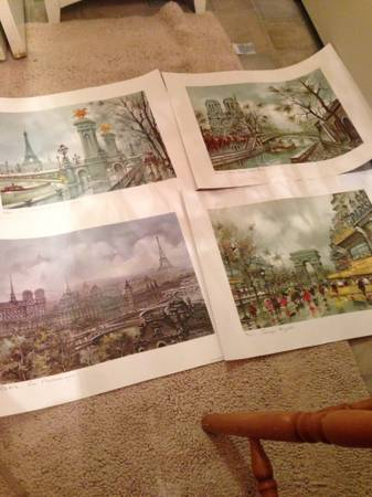 Set of Four Paris Prints