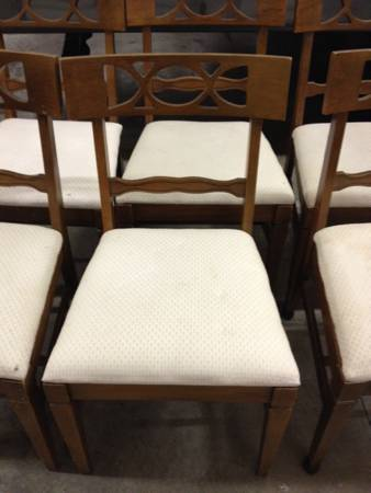 Six Chairs  - Easily reupholstered
