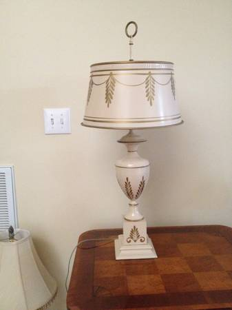 Antique Tole Lamp $40  - This is a great deal on a classic Tole lamp.