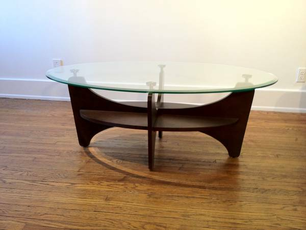 Modern Glass Top Coffee Table $125