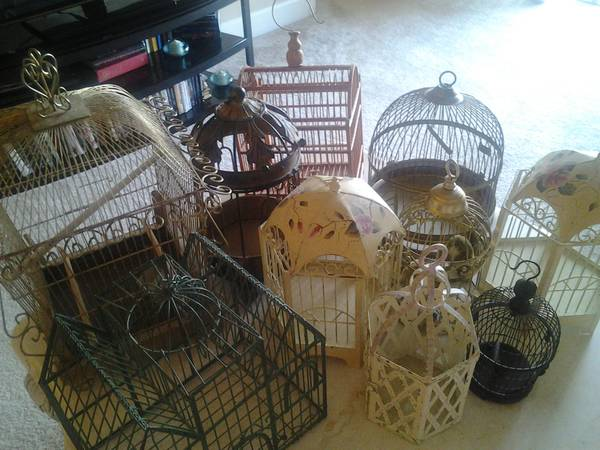 Lot of 10 Birdcages $100  - Spray paint these all the same color and they could be used for table decorations for an event, photo shoot, lighting or just fun decor in your home.