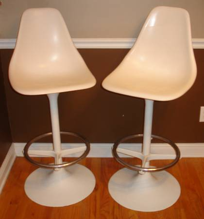Retro Bar Stools $200  - Although I don't think $200 for these is a steal, they are a great pair and could be a fun addition to a modern kitchen.