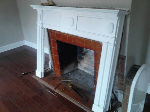 White Fireplace Mantle $150