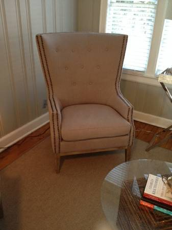 High End Grey Wing Chair $500 each (4 available)