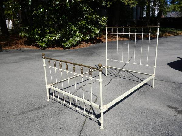 Cast Iron and Brass Bed $145