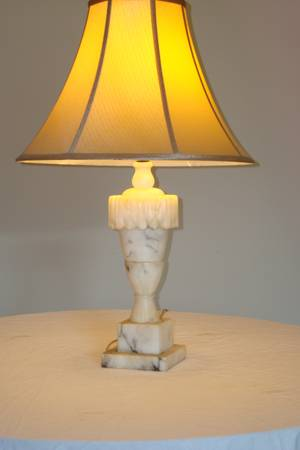 Alabaster Lamp $60  - This is a great find, these lamps are a huge design trend right now. I've seen these lamps sell for as much as $1200 a pair.  Check out this post  on great ideas how to decorate with them.