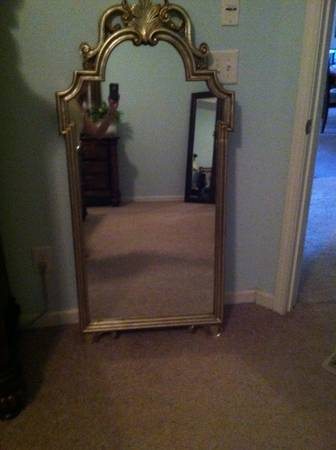 Silver Mirror $50  - Good size mirror, I'd paint the frame.