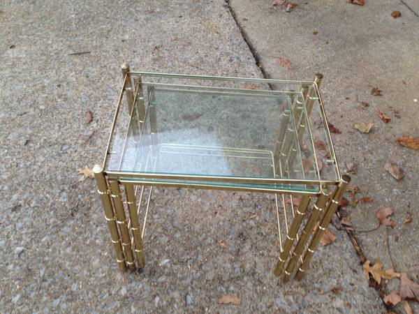 3 Nesting Tables $15 - Nesting tables can be extremely versatile, to see a few examples of how you could use these check out this  blog post .