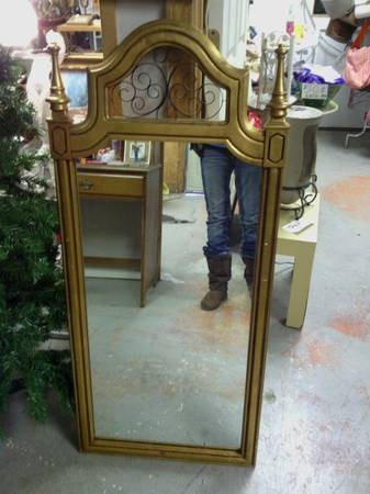 Large Gold Mirror $22  - This is a great price for a large mirror, a coat of paint will totally transform it.