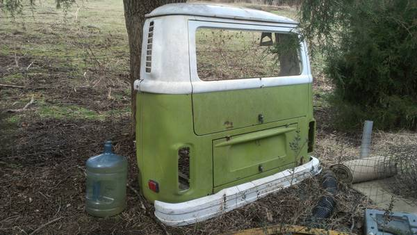 Back of a VW Bus $150  - So I realize this find isn't for everyone but this could be a really cool statement piece hanging on the wall.
