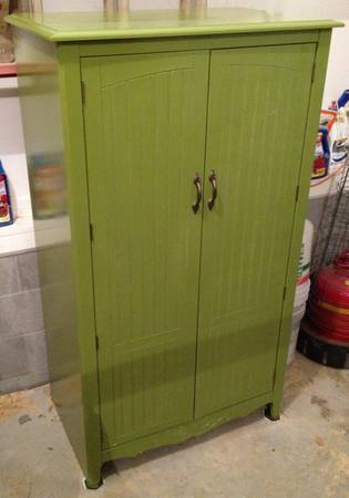 Entertainment Center $100  - Think this would be cute for a playroom (it has a chalkboard on one of the inside doors.