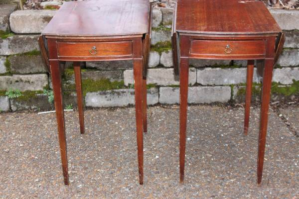 Antique Cherry End Tables $95 pair - It is always good to find things in pairs, these would be perfect nightstands.