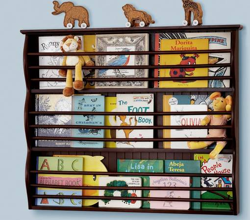 Pottery Barn Kids Espresso Catalina Magazine Rack and Bookshelf $72 -