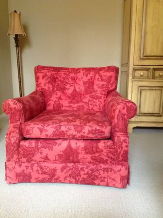 Red Toile Club Chair $95