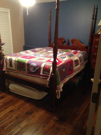 Queen Four Poster Bed and Dresser $200  - Once again I think this would look great painted. Visit my  Pinterest board  to see some examples of painted four poster beds.