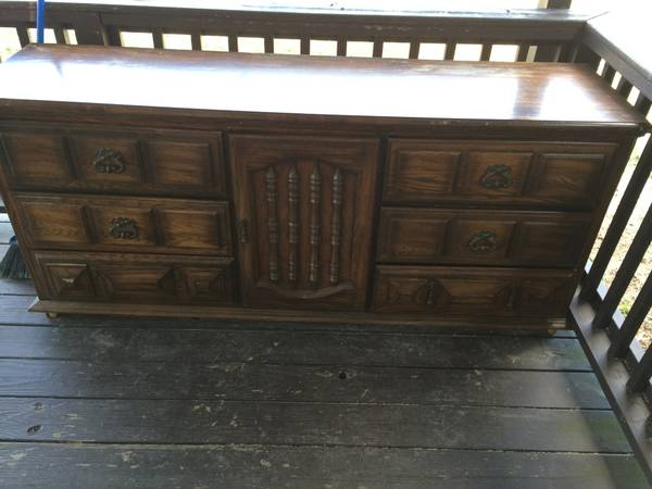 Free Dresser  (and they'll deliver for $20) - This would look like a totally new piece if painted. Check out another  Craigslist dresser  that was redone on the brittanyMakes blog.