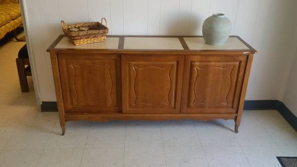 Sideboard/Buffet $170 - Once again I think this would look great painted, and it has marble inlay on the top.