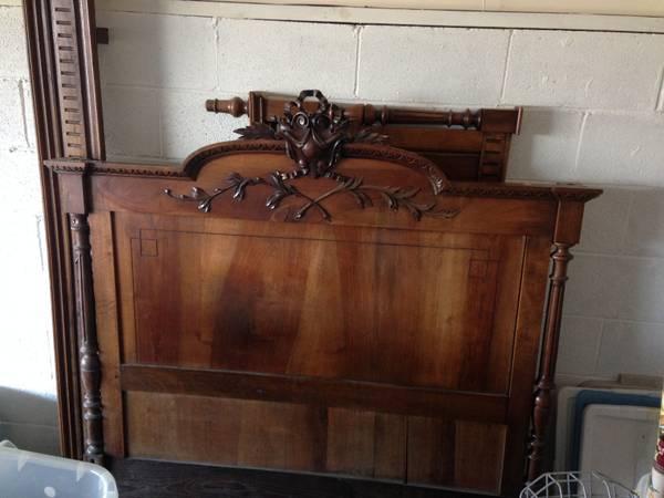 Antique Double Bed $150