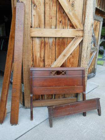 Antique Twin Headboard and Footboard $25  - This is a great price!