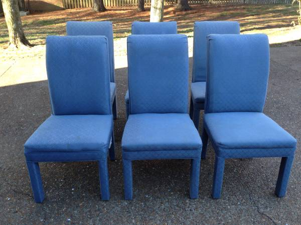 Set of 6 Parsons Chairs $100  - I don't love these as is but you can buy Parsons Chair covers at a lot of stores, the price is good for the base chair.