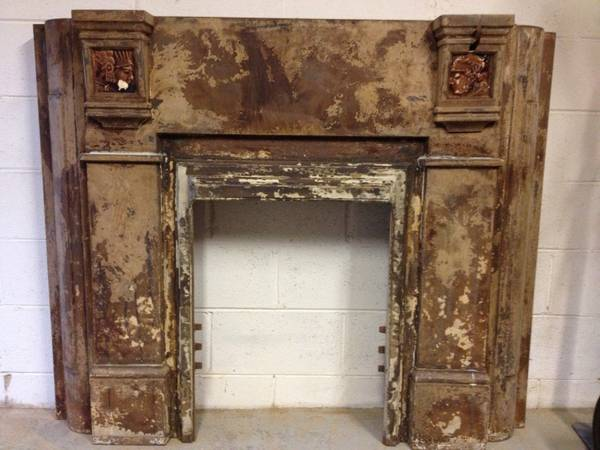 Cast Iron Fireplace Surround $125  - Thought this was a unique piece and could really make a statement.