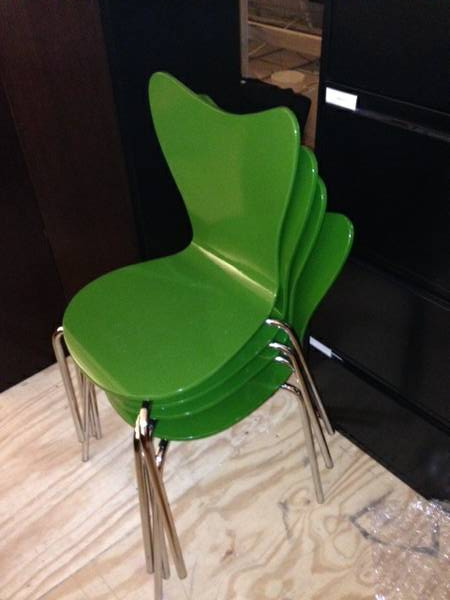 Set of Four Green Chairs $85