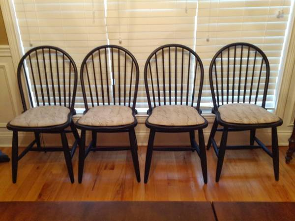 Set of 4 Black Chairs $70