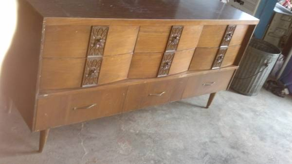 Mid Century Dresser $200  - I think this is a really cool piece that could even be used as a buffet or media center.