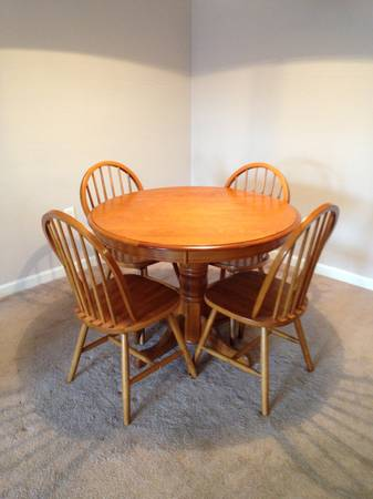 Table and Chairs $50  - This is a great price for this set, a coat of paint would really transform these pieces.