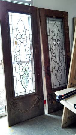 Antique Leaded Glass Doors $1500 - At the Habitat ReStore in Franklin.