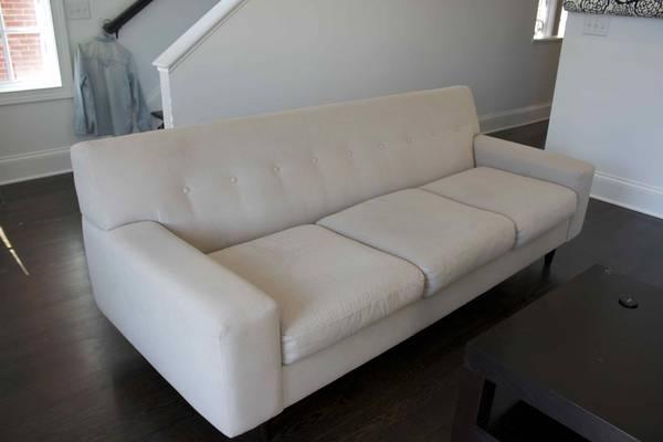 Modern Cream Sofa $400