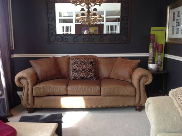 Leather Sofa $750 (2 available ) - Seller originally paid $2,500.