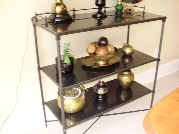 Black Slate Table/Sideboard $50  - This table could be a great piece if styled well.