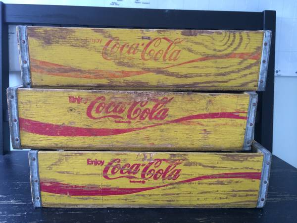 Coke Crates $25 each (or 3 for $60)  - These can be great decorative pieces or you could hang on the wall and use as a shelf.