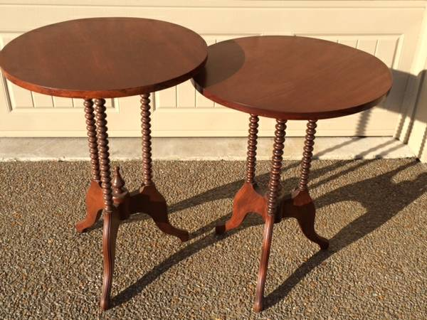 Pair of Antique End Tables $75