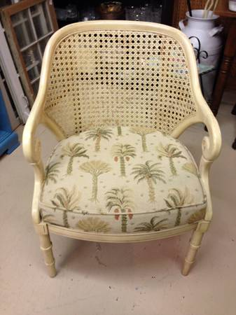 Cane Back Chair $40  - This is a great price and just needs a new cushion!