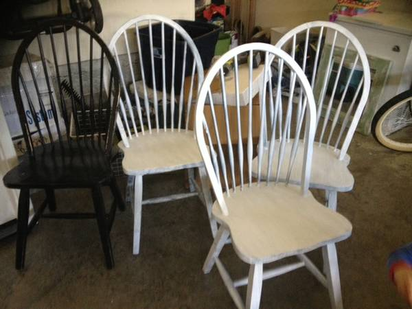 Set of 4 Chairs $45  - Great price for the set, they just need some paint.