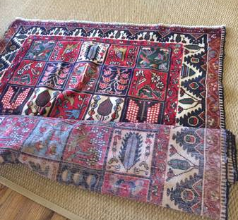 Antique Oriental Rug 9' x 5' $350  - Beautiful antique rug, would also be a stunning wall hanging.