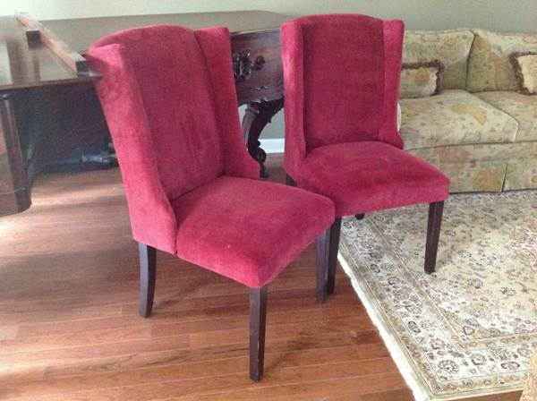Red Chairs $20 each  - Would be great chairs to use as the head chairs at a dining room table.
