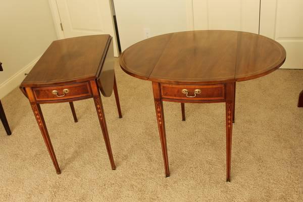 Pair of Drop Leaf Side Tables $150 (or $75 each)