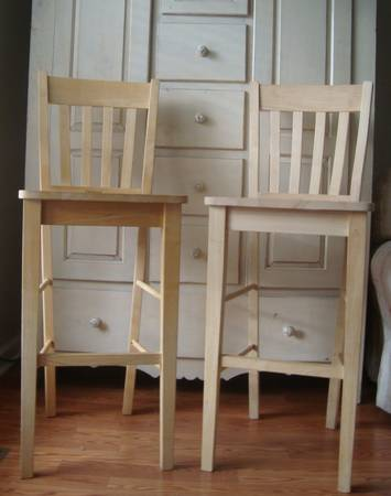 Pair of Barstools $40  - These just need a coat of paint.