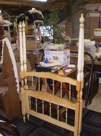 Twin Bed $35  - This is a great price and just needs a coat of paint.