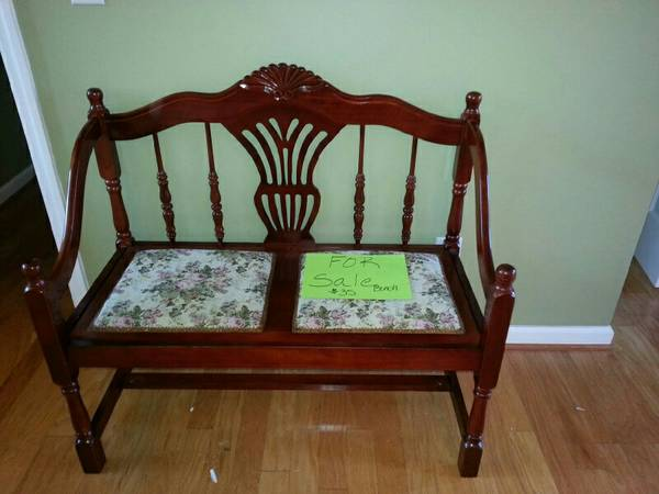 Bench $35  - This would be really cute painted and in a entryway.