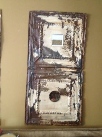 Antique Ceiling Tiles $80  - I think these would look really good hanging on the wall.