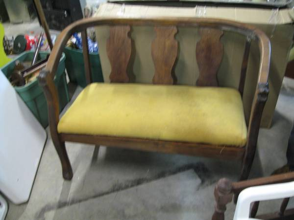 Bench $275  - I really like this bench, it has some unique details. I think $275 is a bit high but its been on Craigslist for a few weeks so you could probably negotiate it down a bit.