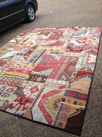 Pottery Barn Ankara Dhurrie Rugs 9' x 13' is $175 and 5' x 8' is $125