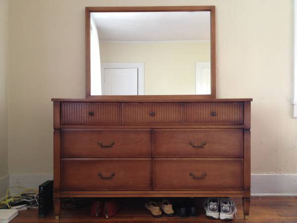 Mid Century Dresser with Mirror $300