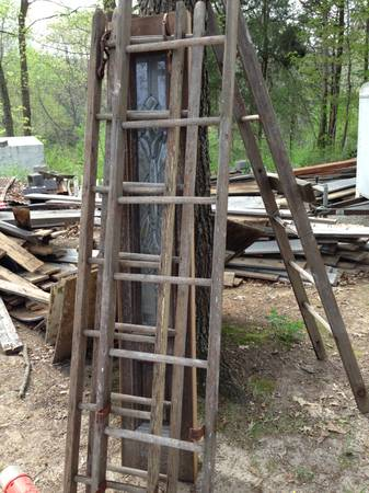 Wood Rung Ladders $25 - These ladders could be used as wall art (either hung vertically or horizontally) or you could just lean one up against the wall.