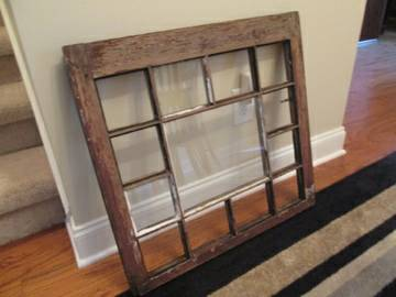 Antique Window $45  - I love this window and think it would look really good hanging on the wall.