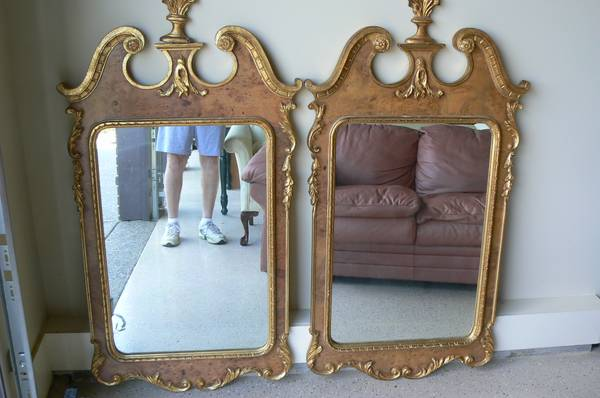 Pair of Ornate Mirrors $150